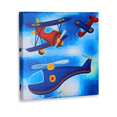 Green Frog Let's Fly High Canvas Wall Art