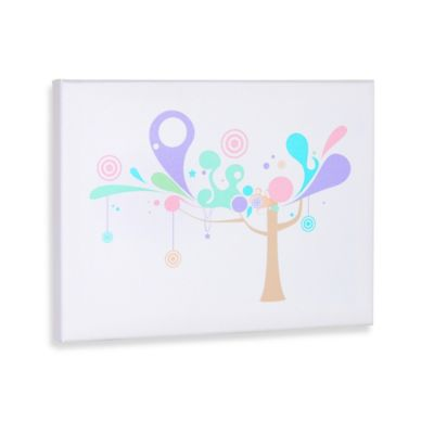 Tree and Shapes I Gallery Wrapped Canvas Wall Art