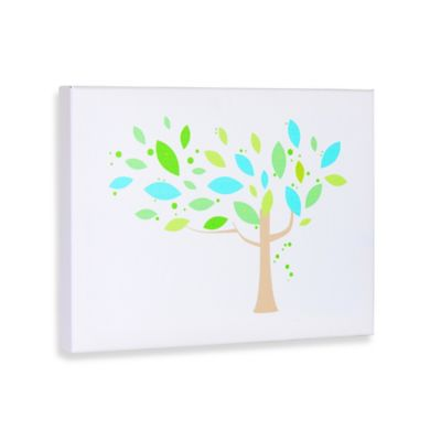 Tree and Shapes II Gallery Wrapped Canvas Wall Art