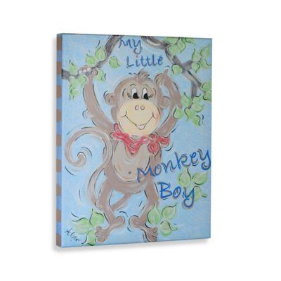 My Little Monkey Boy Gallery Wrapped Canvas Wall Art
