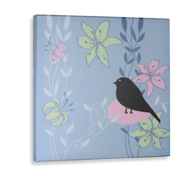 Green Frog Little Birdie III Canvas Wall Art