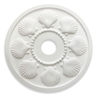 Marie Ricci Collection™ Seashell Ceiling Medallion in White
