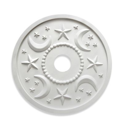 Marie Ricci Collection™ Moon & Stars Ceiling Medallion in White