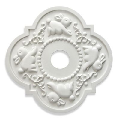 Marie Ricci Collection™ Bunny Ceiling Medallion in White