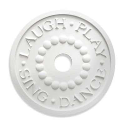 "Marie Ricci Collection™ ""LAUGH-PLAY-SING-DANCE"" Ceiling Medallion in White"