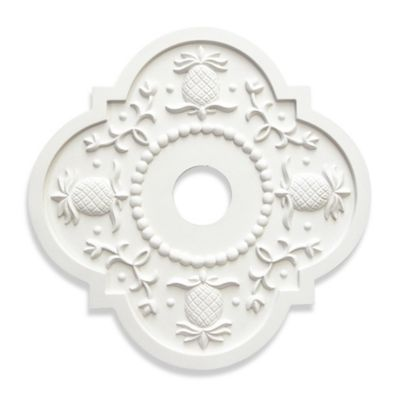 Marie Ricci Collection™ Pineapple Ceiling Medallion in White