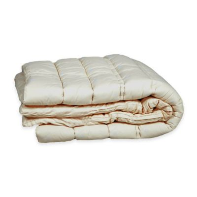 Sleep & Beyond Wool Twin Mattress Topper in Ivory
