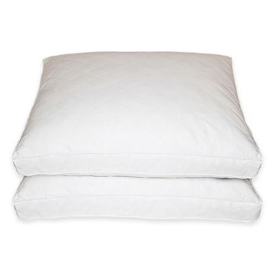 Quilted Standard Feather Pillow (Set of 2)