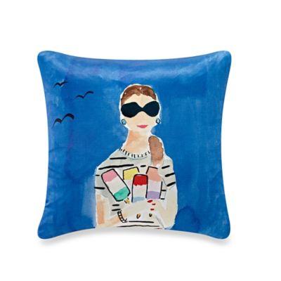 kate spade new york Beach Day Throw Pillow in Blue
