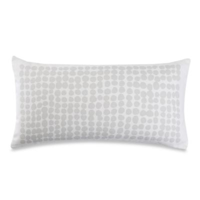 kate spade new york Dot Stamp Oblong Throw Pillow in Platinum