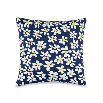 kate spade new york Sunburst Throw Pillow in Navy