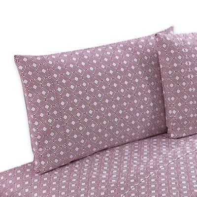 Clairebella Diamond Reversible Twin Sheet Set in Pink