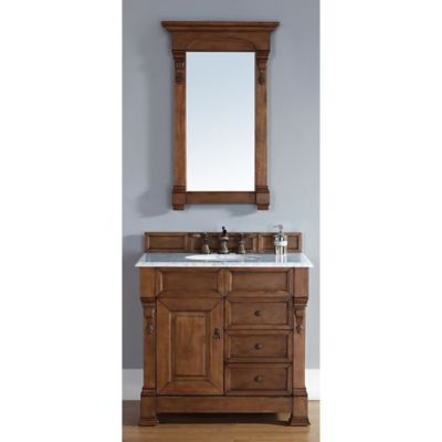 James Martin Furniture Brookfield Single Vanity with Drawers in Country Oak without Countertop
