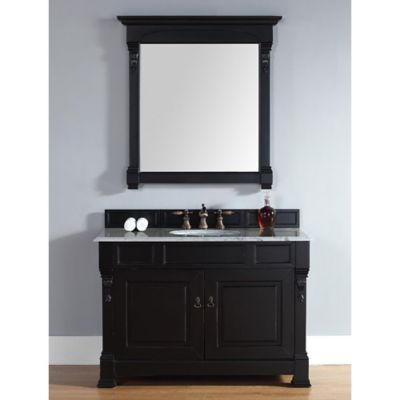 James Martin Furniture Single Vanity in Antique Black without Countertop