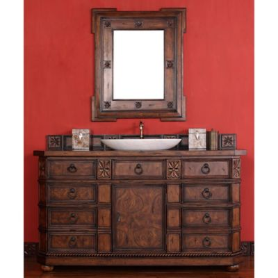 James Martin Furniture Regent 60-Inch Single Vanity with Wood Top in English Burl