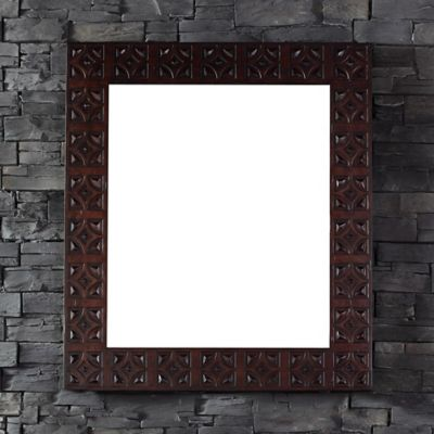 Balmoral 42-Inch x 37-Inch Rectangular Mirror in Antique Walnut