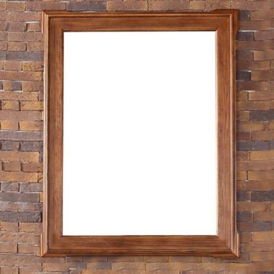 James Martin Furniture Pasadena 35-Inch Mirror in Antique Oak