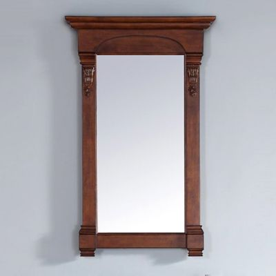 James Martin Furniture Brookfield 26-Inch Mirror in Warm Cherry