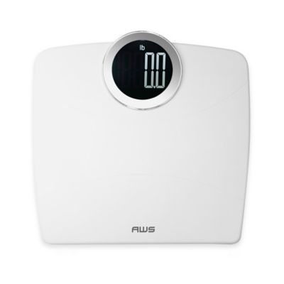 LUMA Digital Bathroom Scale in White