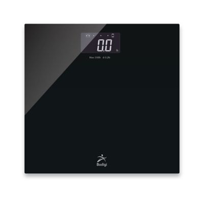 Bodigi Essential Digital Wireless Smart Bathroom Scale in Black