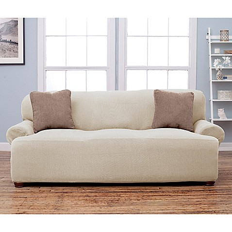 stretch fit popcorn texture protective sofa slipcover