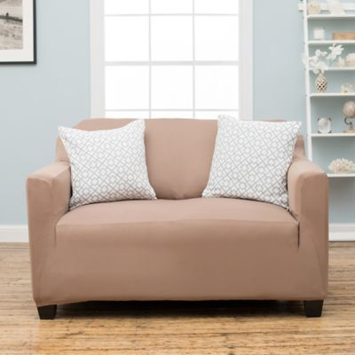 Stretch Fit Protective Twill Loveseat Slipcover in Sage