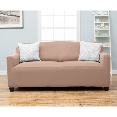 Stretch Fit Protective Twill Sofa Slipcover in Sage