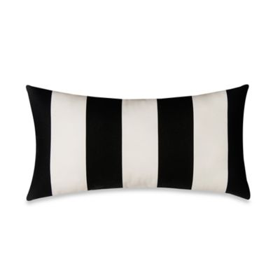 Glenna Jean Pippin Striped Oblong Throw Pillow in Black/White