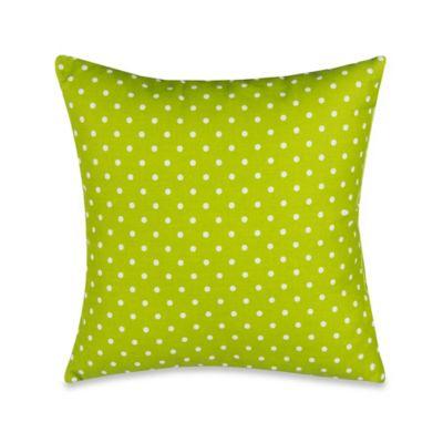 Glenna Jean Pippin Polka Dot Throw Pillow in Green/White