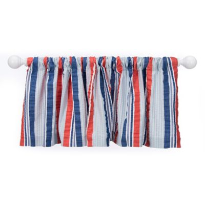 Glenna Jean Fish Tales Striped Window Valance