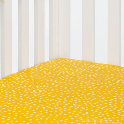 Glenna Jean Traffic Jam Fitted Crib Sheet in Yellow Dot