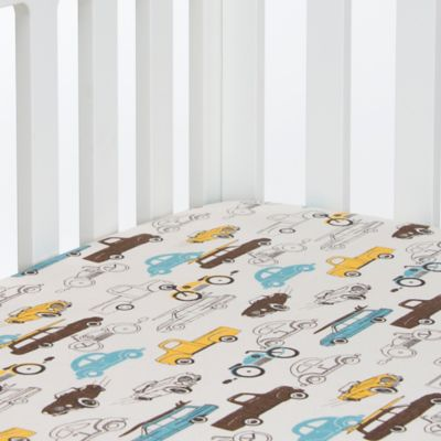 Glenna Jean Traffic Jam Cars Fitted Crib Sheet