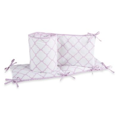 Trend Lab® Orchid Bloom 4-Piece Crib Bumper Set
