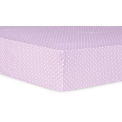 Trend Lab® Orchid Bloom Dot Fitted Crib Sheet