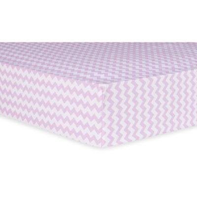 Trend Lab® Orchid Bloom Chevron Fitted Crib Sheet