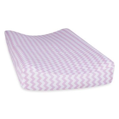 Trend Lab® Orchid Bloom Chevron Changing Pad Cover