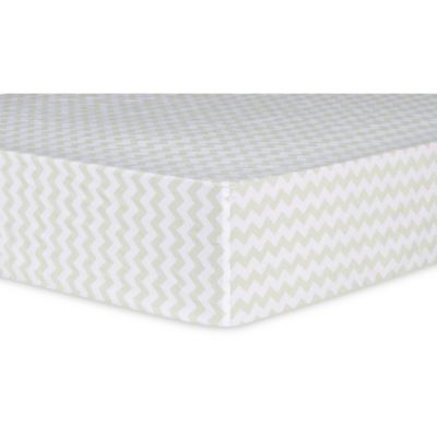 Trend Lab® Sea Foam Chevron Fitted Crib Sheet