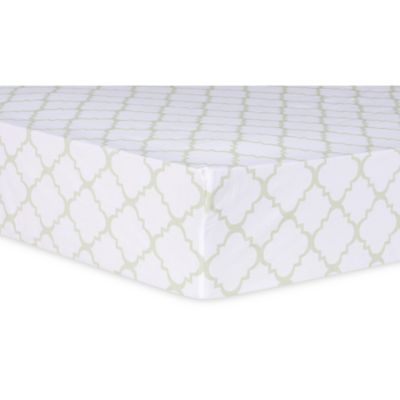 Trend Lab® Sea Foam Quatrefoil Fitted Crib Sheet