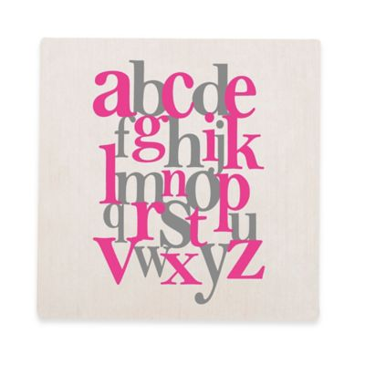 Glenna Jean Blossom Alphabet Canvas Wall Art