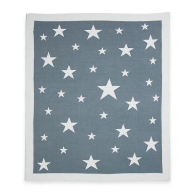 Weegoamigo Stellar Cotton Knit Baby Blanket in Grey
