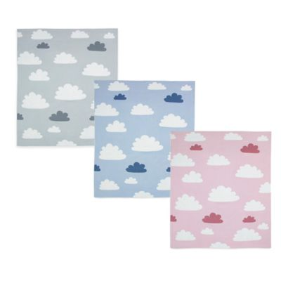 Weegoamigo Sky High Cotton Knit Baby Blanket in Pink