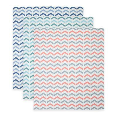 Weegoamigo Ziggy Cotton Knit Baby Blanket in Blue