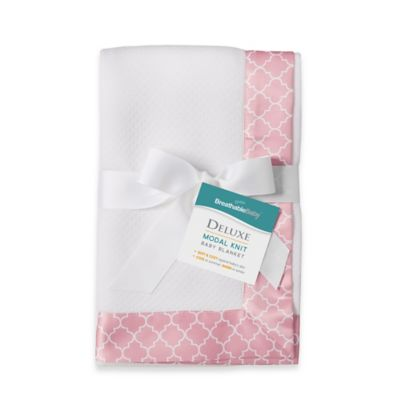 BreathableBaby® Deluxe Modal Knit Blanket in Moroccan Pink