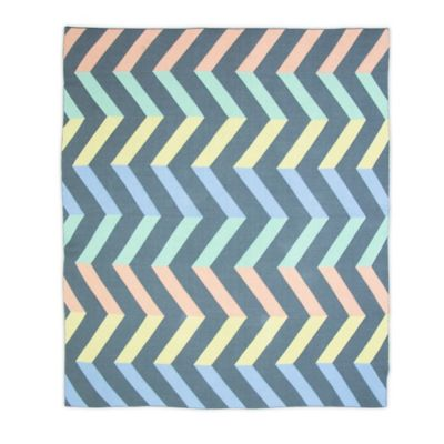 Weegoamigo Spectrum Rayon Made from Bamboo/Cotton Knitted Baby Blanket in Grey