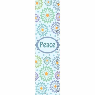 Green Leaf Art Blue and Purple Ornaments Growth Chart in Blue