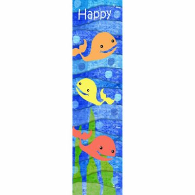 Green Leaf Art Happy Whales Growth Chart in Blue