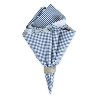 Fair Winds Quilted Napkin in Blue/White