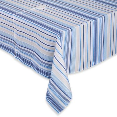 Sam Hedaya Monaco Stripe 60-Inch x 84-Inch Umbrella Tablecloth