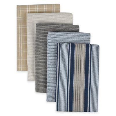 Performance Kitchen Towels in Indigo (Set of 5)
