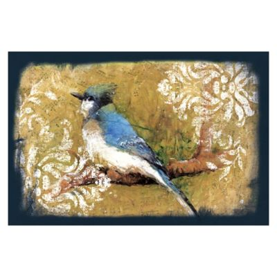 Pied Piper Creative Bluebird On A Branch 36-Inch x 24-Inch Canvas Wall Art